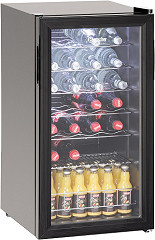 Bartscher Bottle Cooler 88L,28bottles,glass door