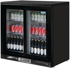 Polar G-Series Bar Display Cooler Sliding Doors 182 Bottles