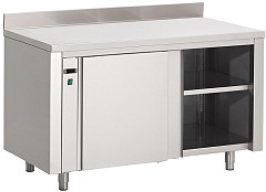 Gastro M Gastro-M Stainless Steel Hot Cupboard With Upstand 850 x 1000 x 700mm