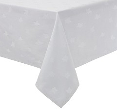 Mitre Luxury Luxor Tablecloth White 1350 x 2300mm