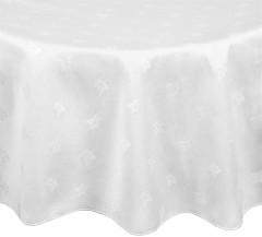 Mitre Luxury Luxor Round Tablecloth White 1725mm