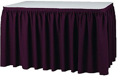 Gastronoble Table Skirting - Bordeaux Plisse Style