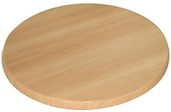 Bolero Pre-drilled Round Table Top Beech 600mm