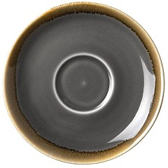 Olympia Kiln Cappuccino Saucer Smoke 140mm (Pack of 6)