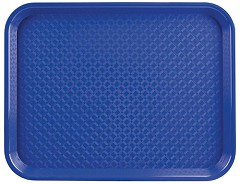 Kristallon Small Polypropylene Fast Food Tray Blue 345mm